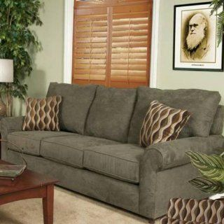 181 Sofa in Victory Lane Loden with Manray Jasper Pillows 8010 181
