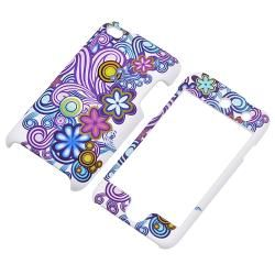 Flower Vine Rubber Coated Case for Apple iPod Touch Generation 4