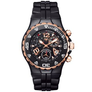 TechnoMarine Mens MoonSun Rose Gold Steel and Ceramic Quartz Watch