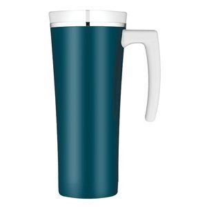 Thermos Sipp Vacuum Insulated Travel Mug   Teal/White