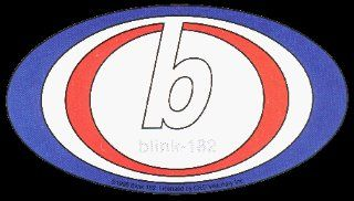 Blink 182   Classic Blue, White & Red Oval Logo   Sticker / Decal