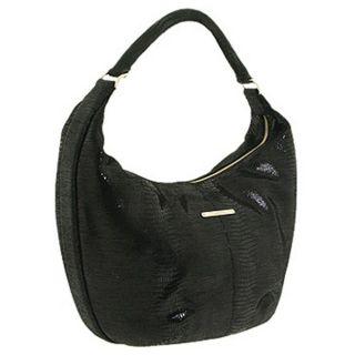 Calvin Klein Cracked Metallic Medium Hobo Bag