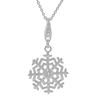 Sterling Silver Diamond Accent Snowflake Necklace