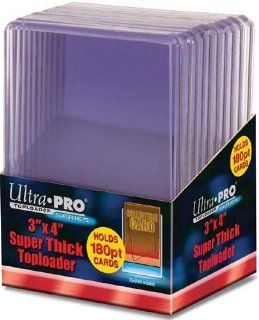 Ultra Pro Topload Card Holder 3x4 180pt (10 Pack) Sports