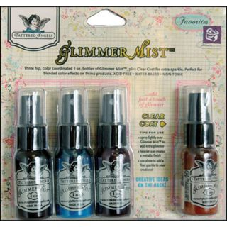 Tattered Angels 1 ounce Glimmer Mist Prima Favorities Kit (Pack of 4