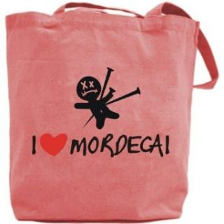 Canvas Tote Bag Pink  I Love Mordecai  Name Clothing