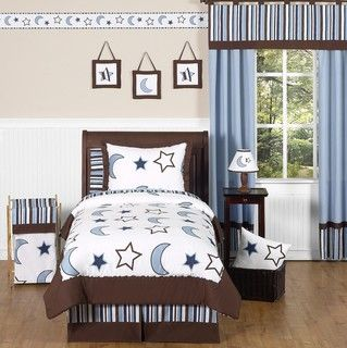 Sweet JoJo Designs StarryNight 3 piece Full/Queen size Bedding Set