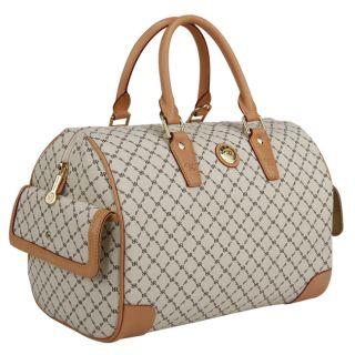 Rioni Womens Boston Vanilla Large Satchel Bag