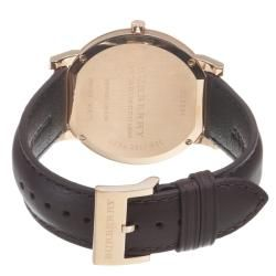 Burberry Mens Slim Brown Dial Brown Leather Strap Watch