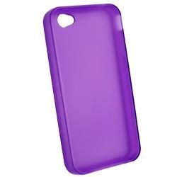 Clear Purple TPU Case/ Privacy Screen Filter for Apple iPhone 4