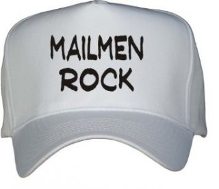 Mailmen Rock White Hat / Baseball Cap Clothing