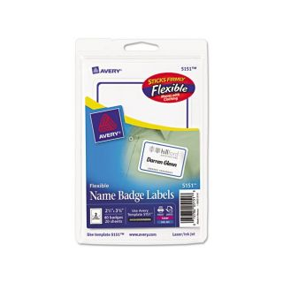 Avery Flexible Self adhesive Laser/ Inkjet Name Badge Labels Today $
