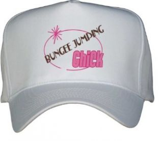 BUNGEE JUMPING Chick White Hat / Baseball Cap Clothing