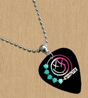 Blink 182 (Black) Premium Guitar Pick Necklace Musical