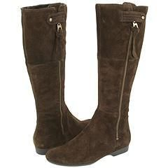 Enzo Angiolini Zoot Dark Brown Suede Boots