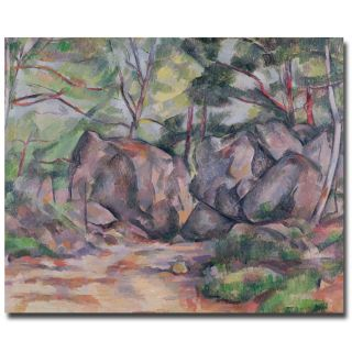 Paul Cezanne Woodland with Boulders 1893 Canvas Art