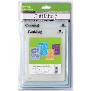 Culebug Cricu Companion Word Collage Embossing Folders (Pack of 4