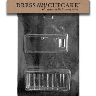 Dress My Cupcake DMCM183 Chocolate Candy Mold, Locker Pour
