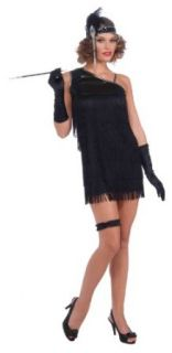 Forum Diamond Dazzle Flapper Dress, Black, Standard