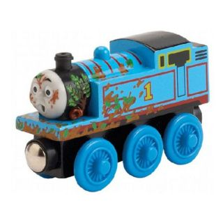 Mud Covered Thomas Wooden Train Engine Toy