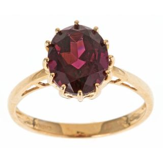 Yach 14k Yellow Gold Rhodolite Fashion Ring