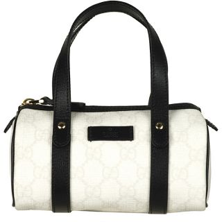 Gucci Joy White and Black Mini Boston Bag
