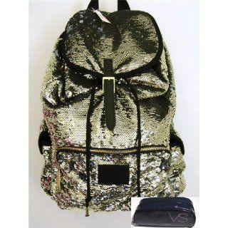 Victoria Secret Pink BackPack Schoolbag Rainbow Sequin PINK Limited