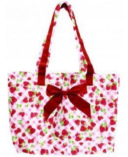 Jessie Steele 810 JS 193 Strawberry Gingham Tote Bag wi