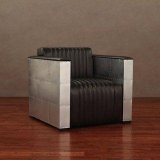 Vindicator Modern Dark Brown Leather Chair