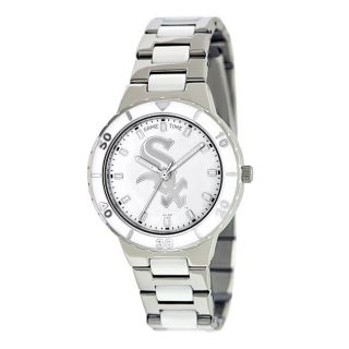 Womens Chicago White Sox Logo Pearl Watch
