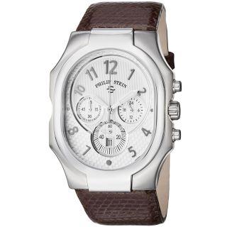 Philip Stein Mens Signature Chronograph Brown Strap Watch