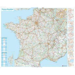 FRANCE ROUTIERE CARTE MURALE PLASTIFIEE   Achat / Vente livre