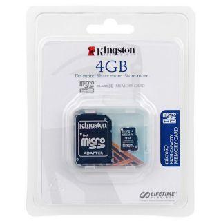 Carte Micro SD 4GB Kingston pour LG OPTIMUS CHAT C550   Carte mémoire