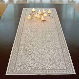 White and Silver Jaipur Table Runner
