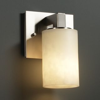 light Flat Rim Cylinder Brushed Nickel Resin Wall Sconce Today $196