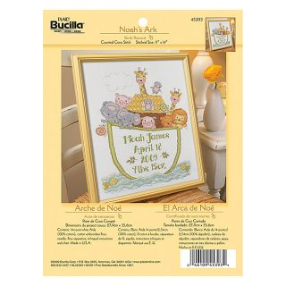 Bucilla Noahs Ark Birth Record Counted Cross Stitch Kit Today $14.39