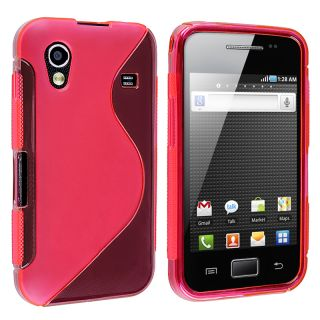 Frost Hot Pink TPU Case Rubber Skin Case for Samsung Galaxy Ace S5830