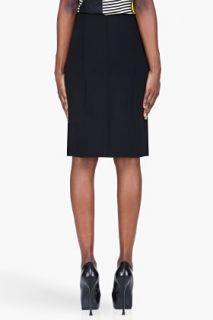 Marni Black Wool Pleat Front Skirt for women