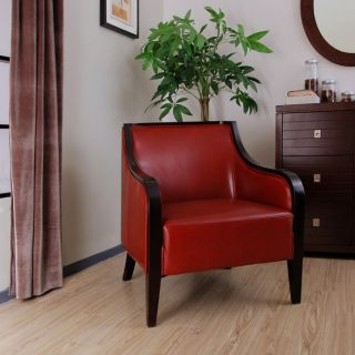 Davenport Red Leather Arm Chair
