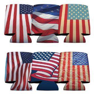 4th of July Patriotic American Flag Koozie #3 Set  6