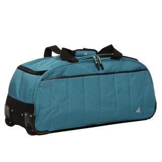 Athalon Teal 29 inch Quilted Extra light Rolling Duffel
