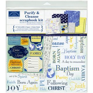 Purify & Cleanse Baptism Scrapbook Page Kit 12X12