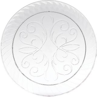 Unique Fluted 7 inch Clear Plastic Plates
