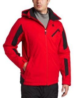 Spyder Mens Scout Jacket, Red/Black/Black, X Large