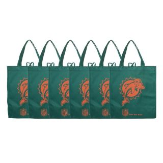 Miami Dolphins Reusable Bags (Pack of 6)