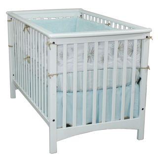 London Euro style Matte White Stationary Crib