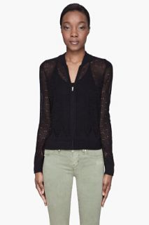 Marc By Marc Jacobs Black Zee Pointelle Sweater for women