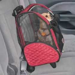 Snoozer Roll Around Red Small Travel Pet Carrier (17.5 x 12 x 8