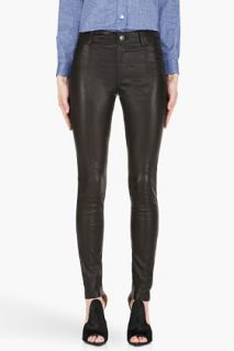 Diesel Black L rimmon Leather Pants for women