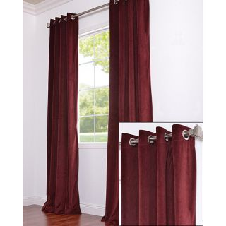 Signature Grommet Wine Velvet 120 Inch Curtain Panel